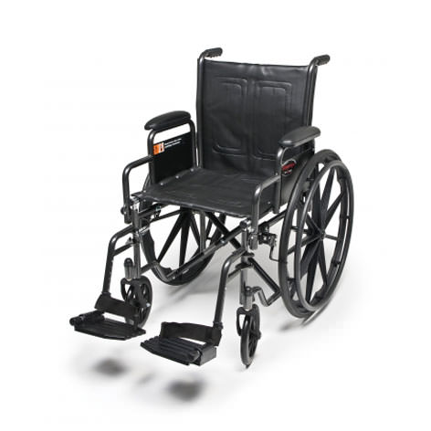 Everest & Jennings Advantage wheelchair with swingaway footrests