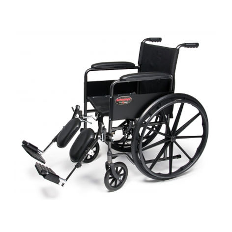E & J Advantage wheelchair with elevating legrests