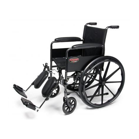 E & J Advantage wheelchair with elevating legrests