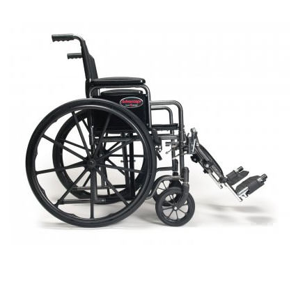 E & J Advantage wheelchair with swingaway footrests - Side view