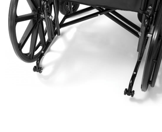 Everest & Jennings Traveler HTC heavy duty wheelchair - Anti Tippers