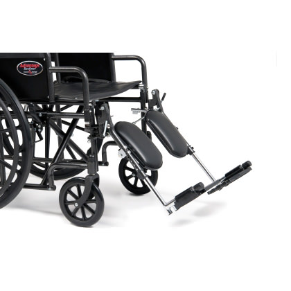 Everest & Jennings advantage bariatric wheelchair with elevating legrest