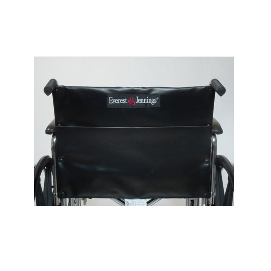 Paramuont XD wheelchair - Black reinforced nylon upholstery