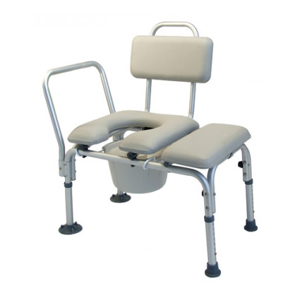 Lumex Padded Transfer Bench With Pail and Cover