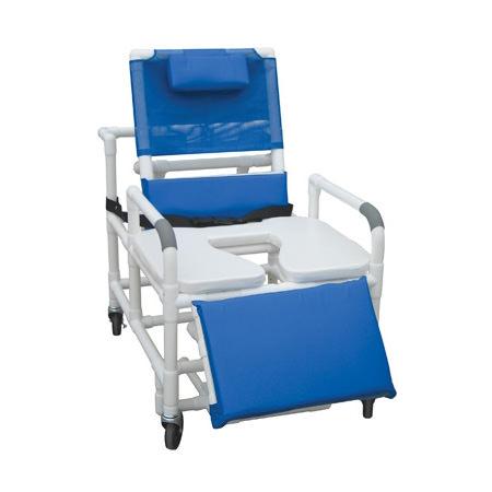 Lumex Pvc Bariatric Reclining Commode Bath Seat | Heavy Duty Commode