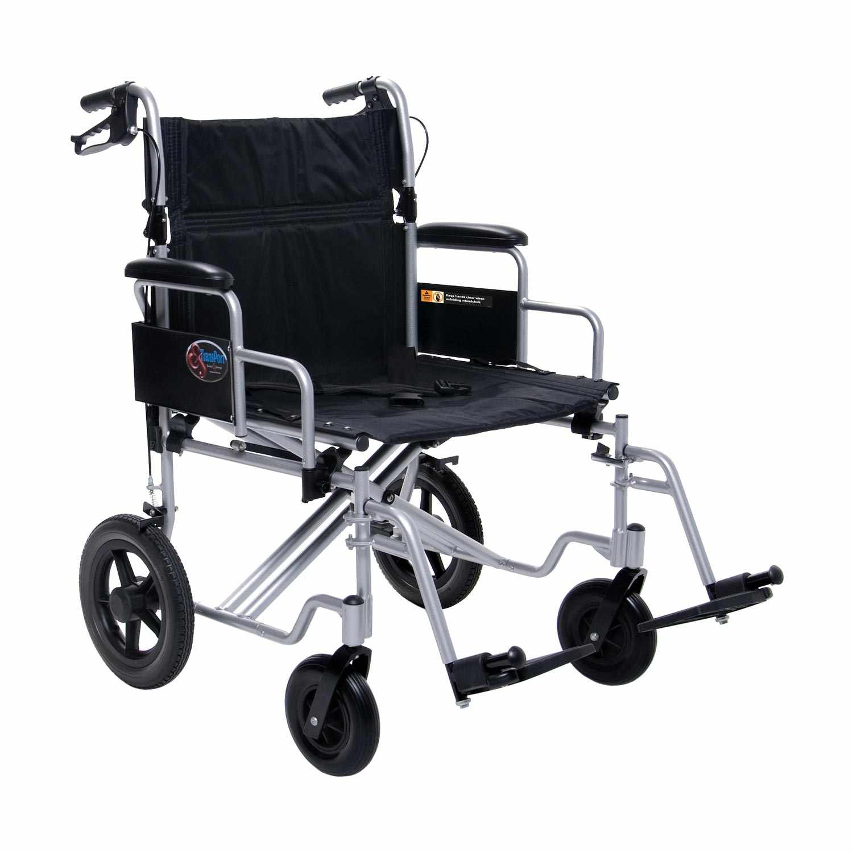 Everest & Jennings aluminum bariatric transport chair