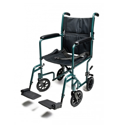 Everest & Jennings EJ781-1 aluminum transport chair - Green