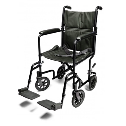 Everest & Jennings aluminum transport chair - Black