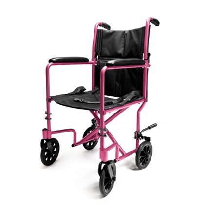 Everest & Jennings aluminum transport chair - Pink