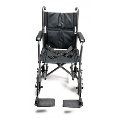Everest & Jennings steel transport chair - Front view