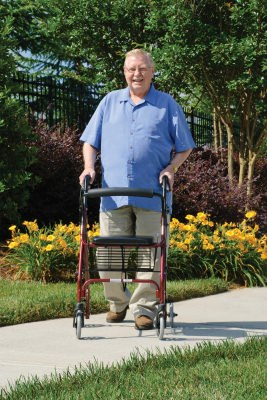 Lumex Walkabout Lite Four Wheel Walker Rollator