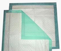 Irregular Heavy Absorbency Polymer Underpad, 23 X 36 Inch, Blue