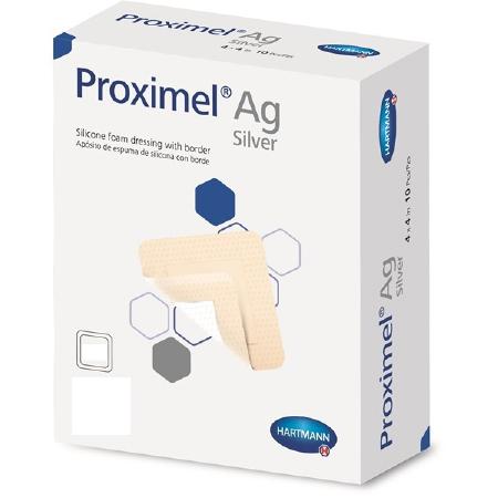 Hartmann-Conco Proximel Ag Silicone Foam Dressing with Border, 6 Inch x 6 Inch