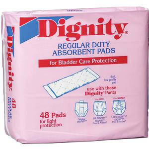 "Dignity Regular Duty Pad 4"" x 12"""