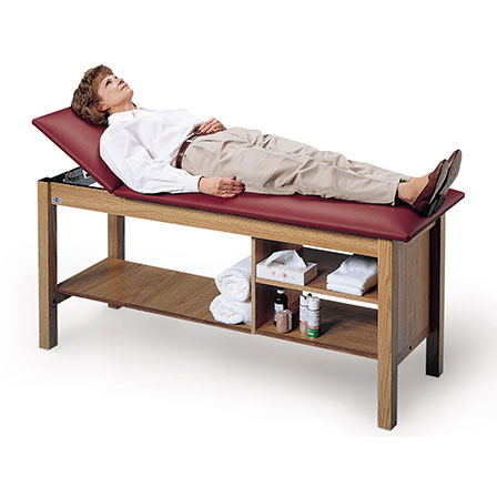 Hausmann 4041 treatment table with open storage