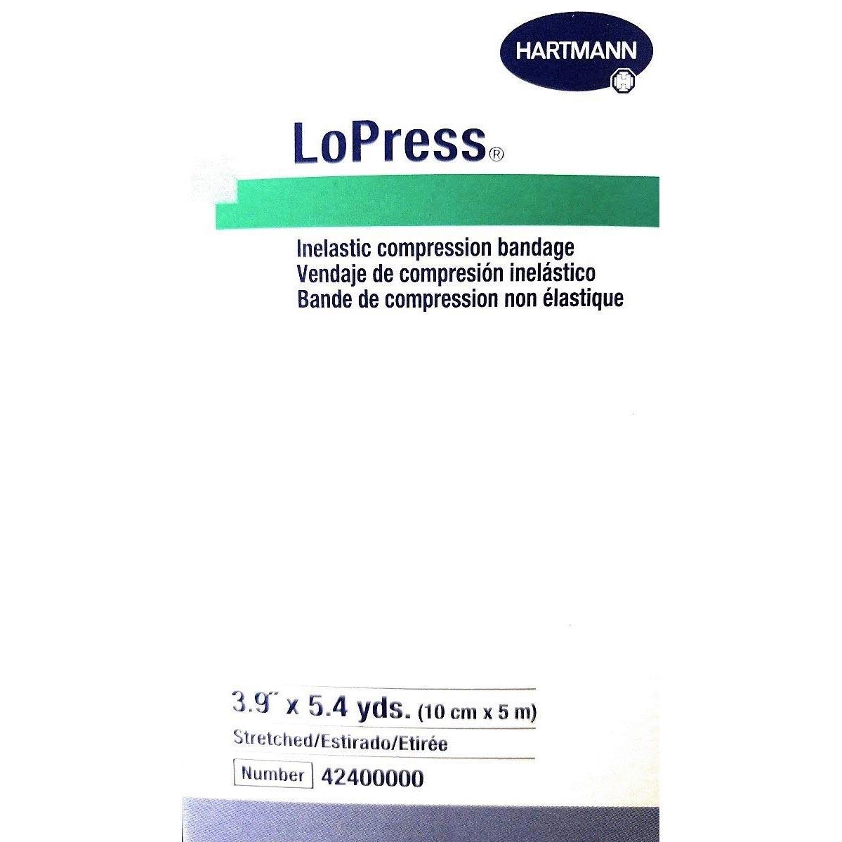 Hartmann LoPress Inelastic Compression Bandage, 3-9/10 Inch x 5-2/5 Yard