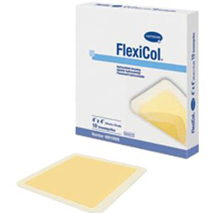 FlexiCol Beveled Edge Hydrocolloid Dressing, 2 X 2 Inch, Tan
