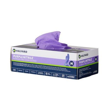 Halyard Purple Nitrile Powder Free NonSterile Exam Glove, Medium
