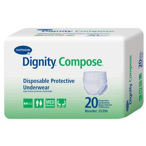 """DignityCompose Disposable Protective Underwear, Small 20"""" to 32"""""""