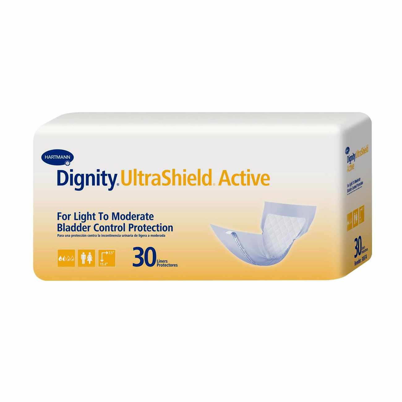 """Dignity UltraShield Absorbent Liners for Light to Moderate Protection 7.5"""" x 15.4"""""""