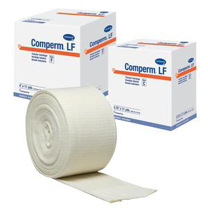 """Comperm Tubular Bandage, Size F, Latex-Free, for Large Knees or Thighs, 4"""" x 11 yards"""