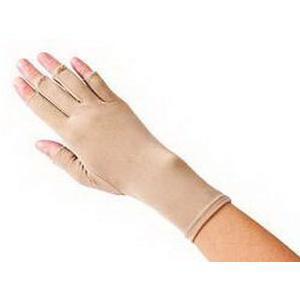 "Hatch Left Open Finger Compression Edema Glove, Medium, 9"", Tan"
