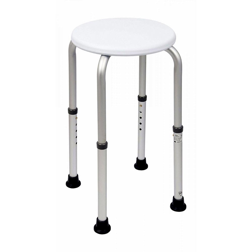 Homecraft Aluminium Shower Stool with Circular Seat