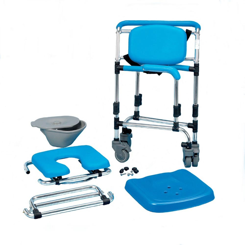 Homecraft Ocean Wheeled Shower Commode Chair | Medicaleshop