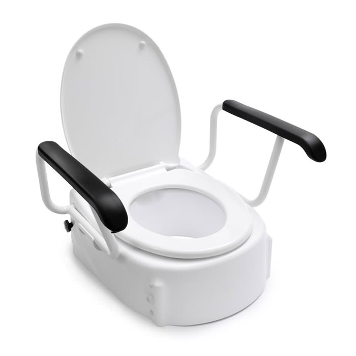 Handicare Toilet Raiser With Armrests And Lid