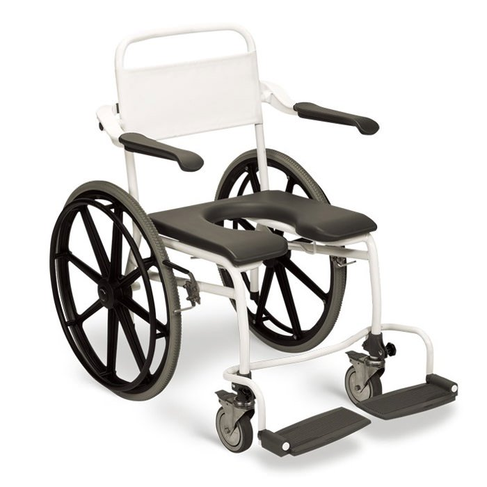 Handicare Self Propelled Commode/Shower Chair With Soft Seat