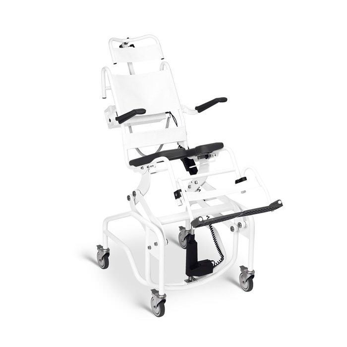 Handicare Height Adjustable Manual Tilting Commode/Shower Chair