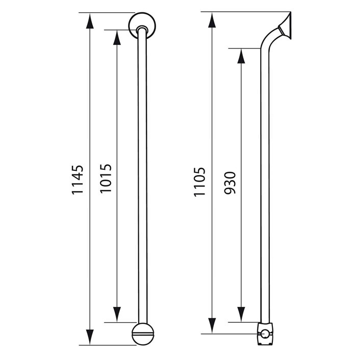 Handicare Corner and Combination Grab Rail - Specifications
