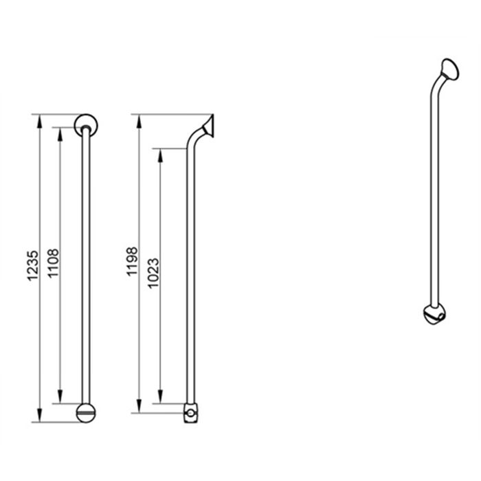 Specifications for Handicare Corner and Combination Grab Rail