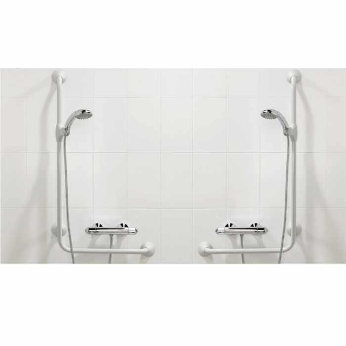 Handicare Linido Ergogrip 90 Angled Grab Rail for Toilet & Bathroom
