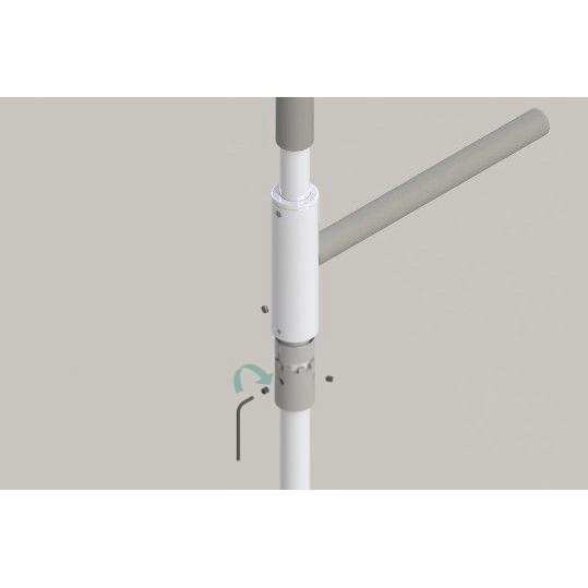 Superpole bariatric stand assist system with superbar - Easy installation