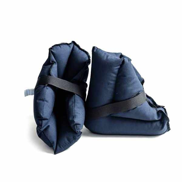 Hermell Reusable Quilted Polyester Fill Heel Protector Pad, Navy Blue