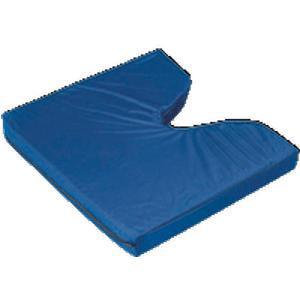 Hermell Coccyx Rip Stop Foam Wheelchair Cushion w/ Navy Cover