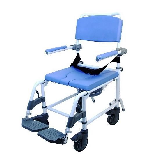 EZee Life Aluminum Rehab Shower Commode Chair   Healthline