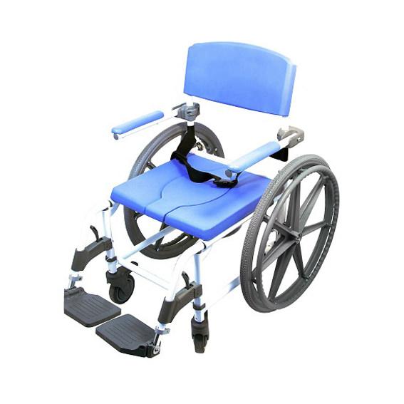Healthline Aluminum (Non-Tilt) Rehab Shower Commode Chair