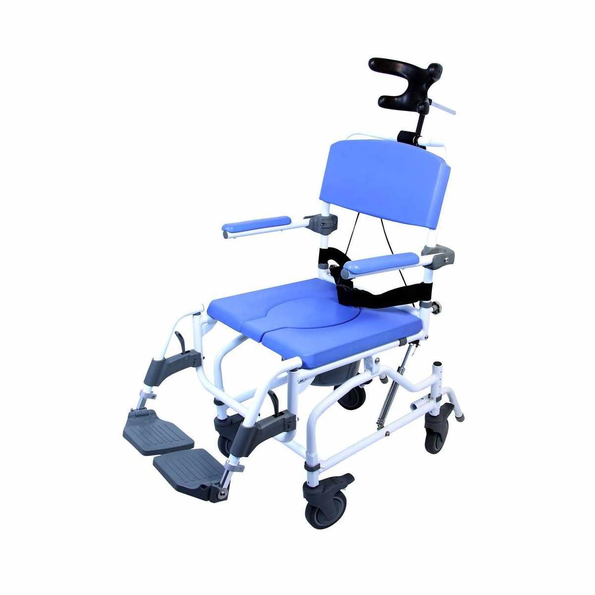 EZee Life Aluminum Tilt Rehab Shower Commode Chair | Healthline