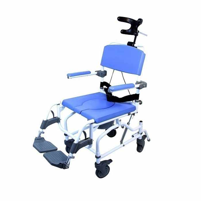 EZee Life Aluminum Tilt Rehab Shower Commode Chair | Healthline