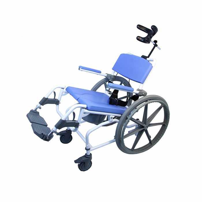 Healthline Aluminum Tilt Rehab Shower Commode Chair | Medicaleshop