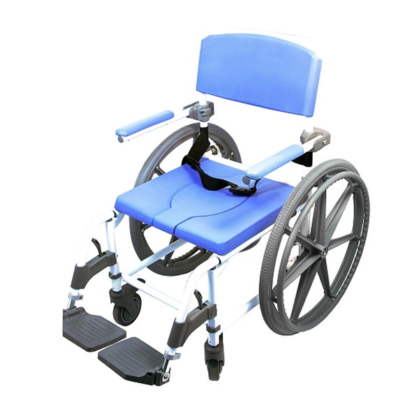 EZee Life 150 Aluminum Rehab Shower Commode Chair (Model 150)