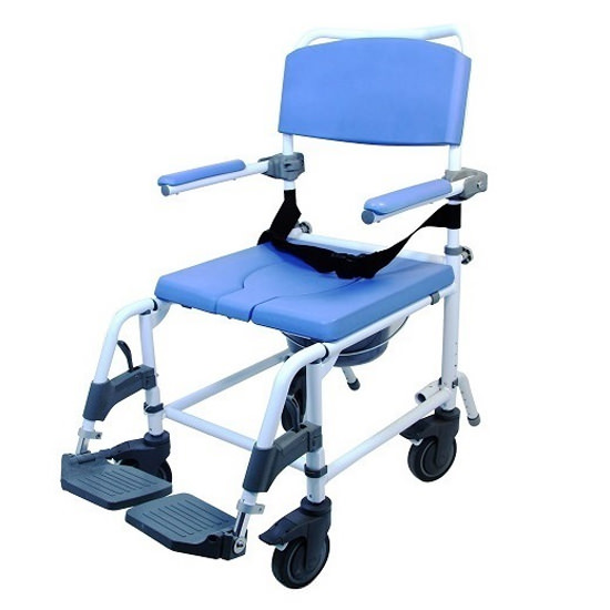 EZee Life 180-4W Aluminum Shower Commode Chair