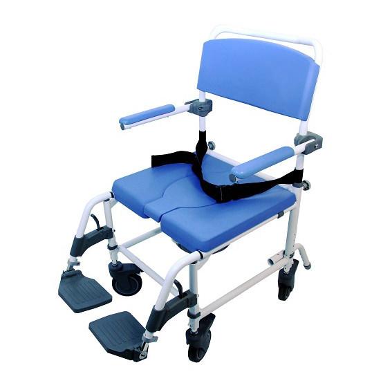 EZee Life Aluminum Rehab Shower Commode Chair (Model 186)