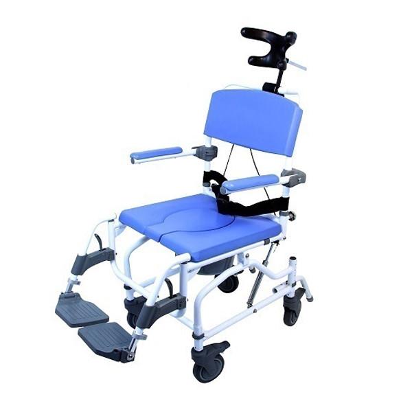 EZee Life 190 Tilt Aluminum Shower Commode Chair
