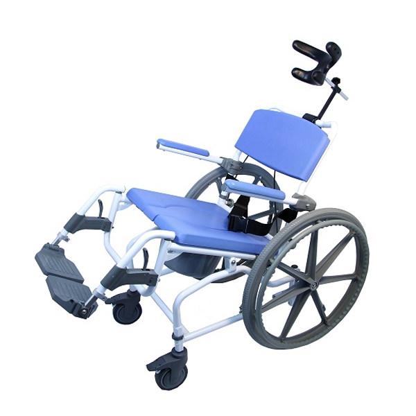 Healthline Medical 190 Tilt Aluminum Shower Commode Chair