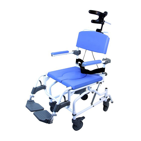EZee Life 190 Aluminum Tilt Rehab Shower Commode Chair