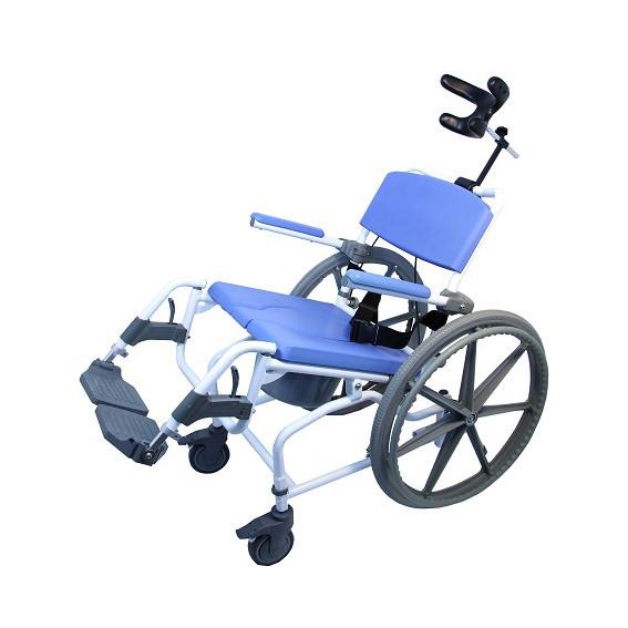 EZee Life Aluminum Tilt Rehab Shower Commode Chair (Model 190)