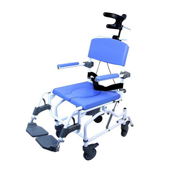 EZee Life Aluminum Tilt Rehab Shower Commode Chair (Model 195)